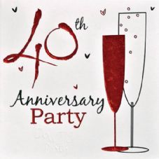 40th Anniversary Ruby Anniversary Invitations
